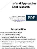 Concepts of and Approaches to Social Research