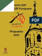 Memoria ECUALTUR 2011 y Propuesta 2012
