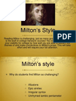 miltons style
