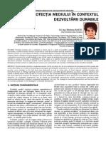 Protectia Mediului in Contextul Dezvoltarii Durabile