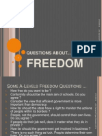 Questions About Freedom