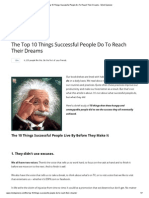 The Top 10 Things Successful People Do to Reach Their Dreams - Mind Openerz