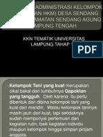 SOSIALISASI ADMINISTRASI KELOMPOK TANI (POKTAN HKM.ppt