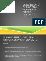El expediente clínico en al medicina de primer