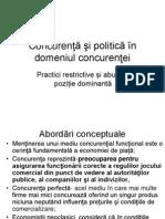 Concurenta Si Politica in Domeniul Concurentei
