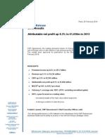 Communique CA Et Resultat FY 2013 VA[1]