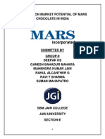 A Report on Market Potential of Mars Chocolate in India