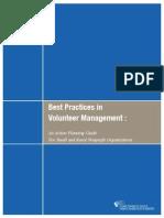 Best Practices Volunteer Management