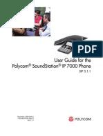 Polycom Soundstation IP7000 User Guide