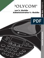 Polycom Soundstation VTX1000 User Guide