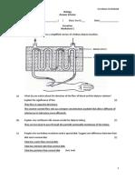Excretion Worksheet 1 Answers