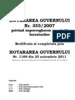 HG 355-2007 + 1169-2011 Privind Supravegherea Sanatatii Lucratorilor