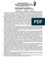 Procedure, Guidelines and Form (Pgf) for Panagbenga Festival 2014 Parade Marshal