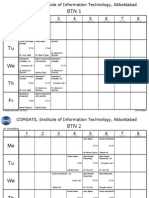 comsats institute of information technology abbottabad Sp14 Timetable