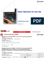 Basic Operation for New Site