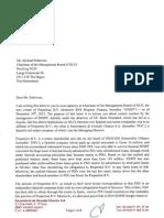 Brief Jalabi aan NLFI
