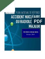 Plan national de réponse - Fiches mesures - Accident nucléaire ou radiologique majeur - fév 2014