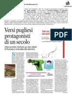 """27 Febbraio 2014, Dino Levante su """"La Gazzetta del Mezzogiorno"""""""