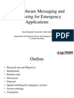 1 Context Aware Messaging and Addressing for Emergency Application