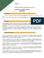 Programa  Oficial Teoria Critica - Curso 2013-2104 - XI Edicion