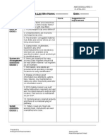 6s Audit Checklist