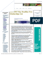 2014-15 May Deadline FREE Scholarships for International and Domestic Students