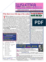 ASTROAMERICA NEWSLETTER DATED JANUARY 07, 2014