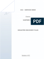 DisasterRecovery Plan