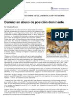 Página_12 __ Economía __ Denuncian abuso de posición dominante