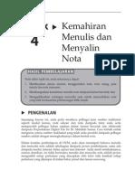 Topik 4 Kemahiran Menulisdan Menyalin Nota