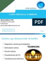 Gloria Calderón - Cómo mimar a un embrión humano - II Simposio Reproducción Asistida Quirón