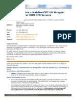MatrikonOPC UA Wrapper for COM OPC Servers Release Notes