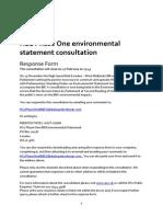 Response to Hs2 Environmental Statement Feb 2014