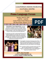 March 15th - Pomo Language Forum in Lake County!