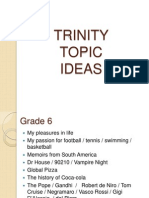 9 - TRINITY Topic Ideas ISE 1