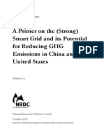 NRDC - Primer on Strong Smart Grid and Potential for Reducing GHG Emissions in China and US