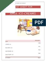 Amul cost sheet