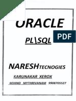 Plsql Naresh Technologies Manual Notes