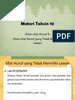 Materi Tahsin 10