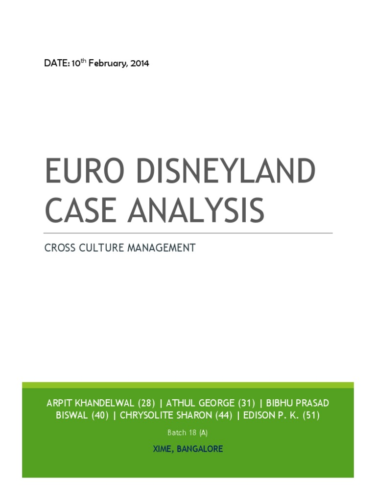 eurodisney cultural problems