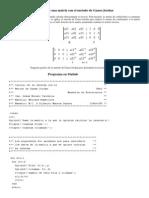 Inversa de Una Matriz Con El Metodo de Gauss