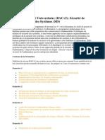 Mastère Spécialisé Universitaire Sécurité de l'Information et des Systèmes (SIS)