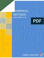 Numerical Methods - Assignment No. 01