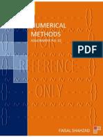Numerical Methods - Assignment No. 02
