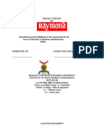 Raymond Project Report - - Collegeprojects1.Blogspot.in