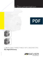 IE211enELV11ENLOW VOLTAGE THREE PHASE TEFC CAGE MOTORSIE2 High Efficiency