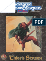 AD&D Thiefs Screen