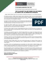 MINISTRO DEL INTERIOR CLAUSURÓ TALLER SOBRE USO DE FUERZA POLICIAL EN EL MARCO DE LOS DERECHOS HUMANOS.doc