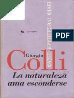 Giorgio Colli La Naturaleza Ama Esconderse