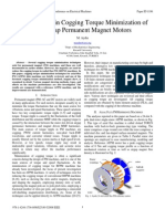 Magnet Skew in Cogging Torque Minimization of Axial Gap Permanent Magnet Motors